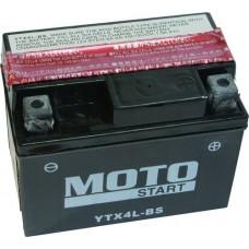 Motobaterie Motostart MS-YTX4L-BS