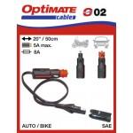 O02 / SAE-72 příslušenství k Accumate a Optimate - DIN / zapalovač konektor (samec)