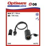 O06 / SAE-76 příslušenství k Accumate a Optimate - 12V voděodolná zásuvka zapalovač (samice)