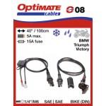 O08 / SAE-78 příslušenství k Accumate a Optimate - 12V DIN voděodolná zásuvka (samice)