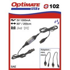 O102 příslušenství k Accumate a Optimate - SAE univerzální nabíječka s voděodolnou zásuvkou USB