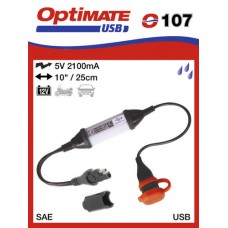 O107 příslušenství k Accumate a Optimate - SAE univerzální nabíječka s voděodolnou zásuvkou USB