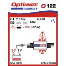 O122 příslušenství k Accumate a Optimate - SAE kontrolka stavu akumulátoru typu AMG/GEL/SUPER M
