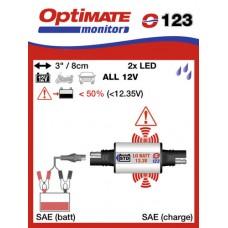 O123 příslušenství k Accumate a Optimate - SAE kontrolka stavu akumulátoru typu STD/YUMICRON