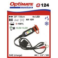 O124 příslušenství k Accumate a Optimate - Očka s kontrolkou stavu akumulátoru typu AMG/GEL/SUP