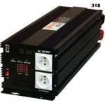 Měnič napětí z 24V DC na 230V AC 5000W trvale