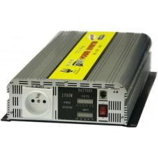 Měnič napětí z 12V DC na 230V AC 1700W trvale