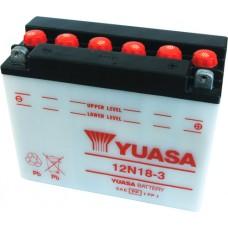Motobaterie Yuasa 12N18-3